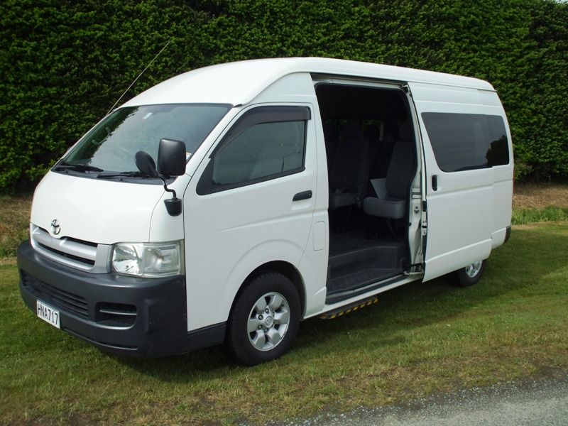 Toyota Hiace 4wd Van Queenstown Christchurch 4wd